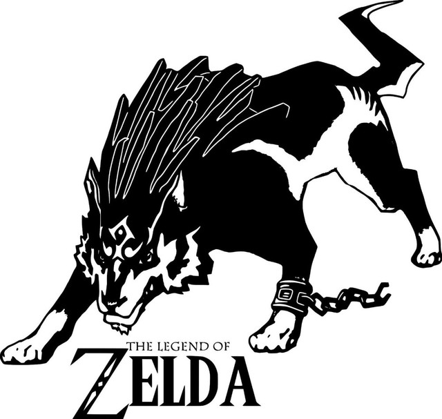 Legend of zelda wolf link vinyl wall sticker wall art decal vinyl removable wall stickers