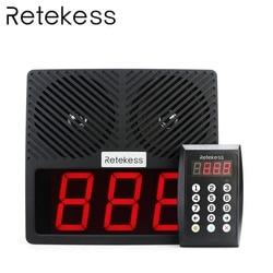 RETEKESS TD101 Keypad Pager 433MHz  Intelligent Voice Pager Guest Calling System For Restaurant Noshery Bank Hospital Bar KTV