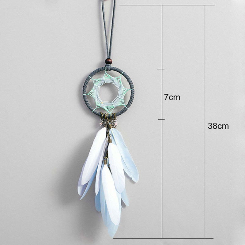 Image 3 - Dream Catcher Car Accessory Interior For Girls Feather Car Mirror Hanging Pendant In Auto Ethnic Home Decor Lucky Car Ornaments-in Ornaments from Automobiles & Motorcycles