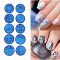 10pcs Nail Stamper Plate Set Nails Art Image Stamp Stamping Transfer Scraper Plates Manicure Templates Nails Stencils Tool