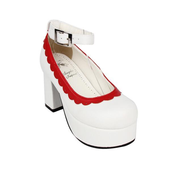 Pompes Princesse Lady Partie Talons 47 Dentelle Femme Fille Cm 33 Femmes Noir Cosplay 8 Haute Empreinte Angélique blanc Mori Lolita Robe Chaussures pink w7q0xvnFz6
