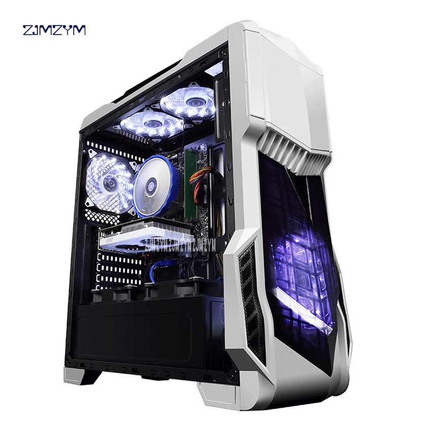 R5 Gaming PC De Bureau Jeu Machine D'assemblage 8500/GTX1050Ti 128g SSD 1 tb HDD Extensible à 320 gb carte mère 8g RAM Ordinateur Cas