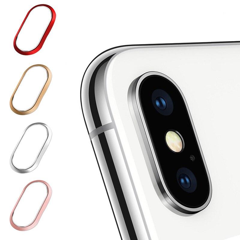 Metal Rear Camera Lens Ring Guard Circle Cover Lens Protector Bumper Case for iPhone 7 Plus/ 8 Plus X Gadgets