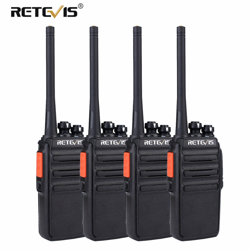 4 шт. PMR446 радио Retevis RT24 рации PMR безлицензионной 0,5 Вт UHF 446 скремблер VOX удобно 2 способ радиостанции ФИО Comunicador