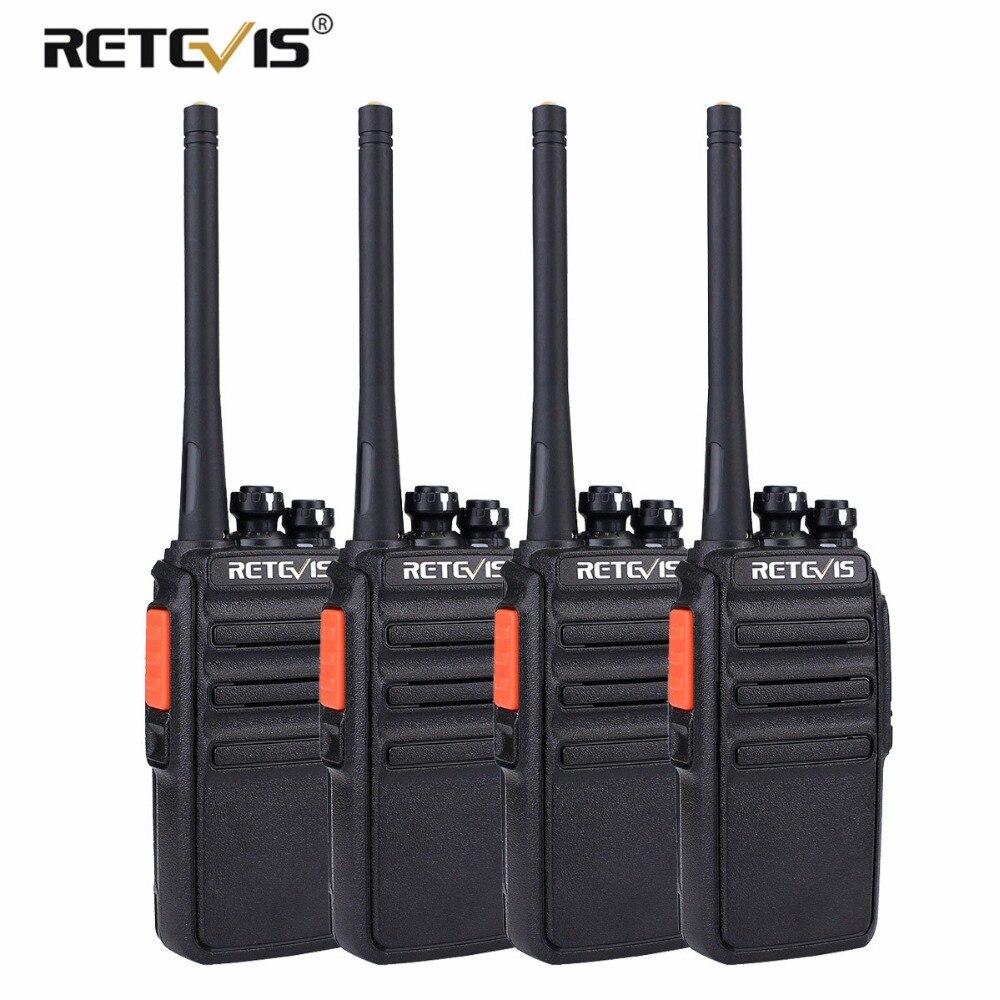 4 pz PMR446 Radio Retevis RT24 Walkie Talkie PMR Licenza 0.5 w UHF 446 Scrambler VOX A Portata di mano 2 way Radio Stazione di Comunicador
