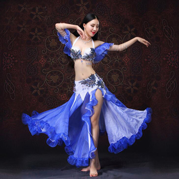 New Arrival Oriental Dance Costumes Sexy Bra&Skirt Suits for Women on Autumn 2pcs/set Belly dancing Clothing set for Dancer