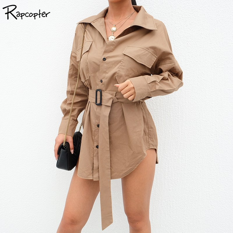Rapcopter Womens Streetwear High Waist   Trenches   Single Breasted Full Sleeve Long Female Casual Fashion Sashes Skinny   Trench   2018