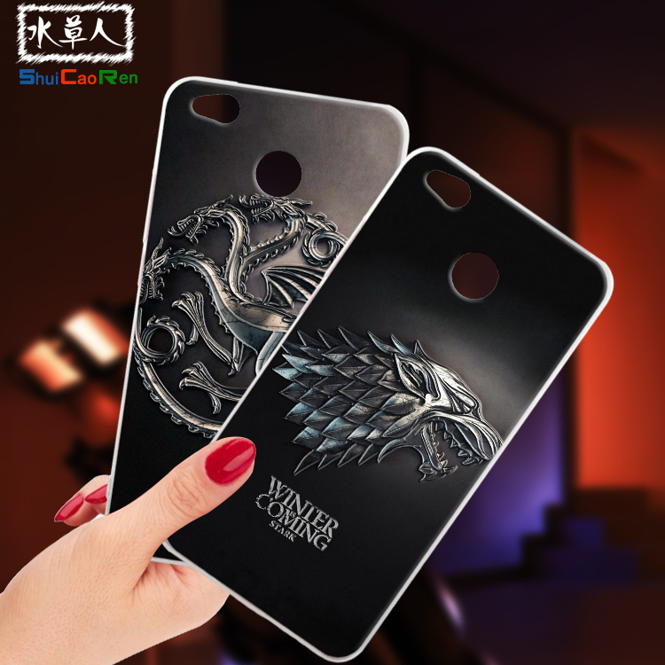 ShuiCaoRen Silicone Cases For Xiaomi redmi 4X Case Game of Thrones Black Shell For Xiaom ...