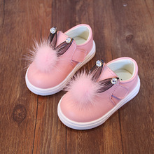 (PS.) enfants Fille Princesse Bébé Chaussures 2016 Automne Bébé En Cuir Véritable Mocassins Antidérapant Prewalker Cristal Lapin Enfant En Bas Âge Chaussures