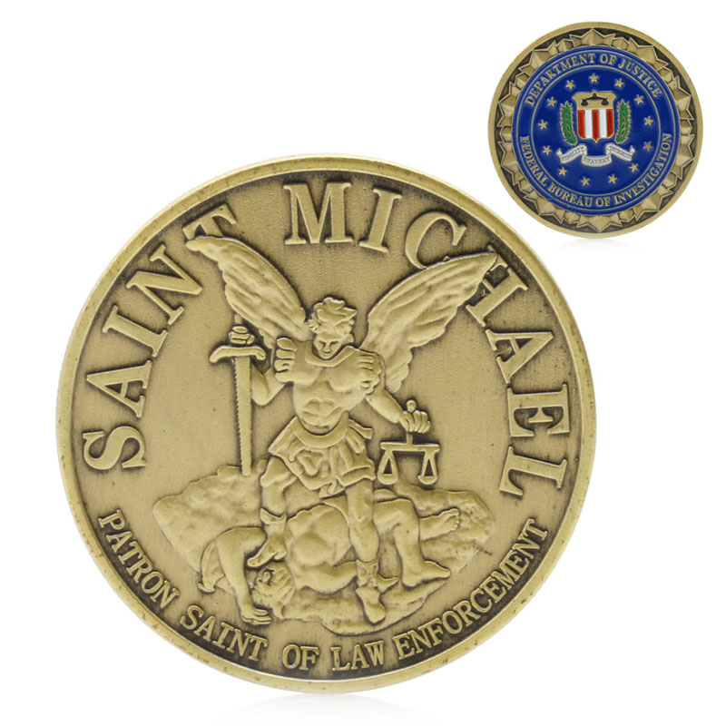 Decoration Crafts 1pc Saint Michael Patron Stint of Law Enforcement Commemorative  Coins Art Collection Souvenir Coin 2048736387ae