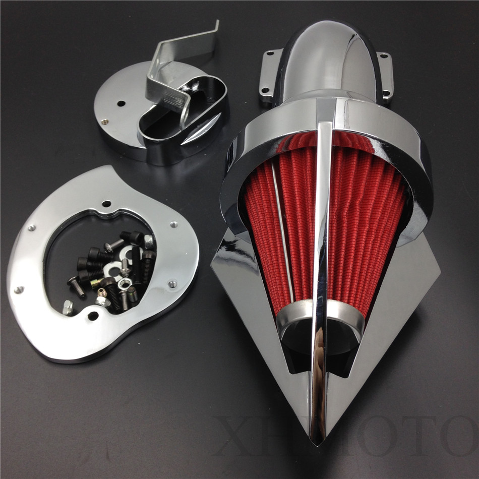 Aftermarket free shipping motorcycle parts Cone Spike Air Cleaner for Yamaha V Star 1100 Dragstar XVS1100