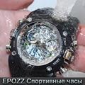 Epozz Men Waterproof Shockproof Sports Wrist Watches Male Swimmer Clock 50M resin relogio masculino 2806
