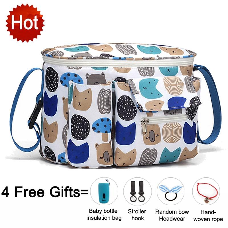 Seckindogan saco de carrinho de bebê grande capacidade sacos de fraldas viagem ao ar livre pendurado transporte mamãe saco cuidados infantis organizador