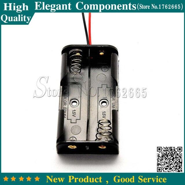 5PCS 2 * AA Battery case Plastic Battery Case Storage Box Holder ...