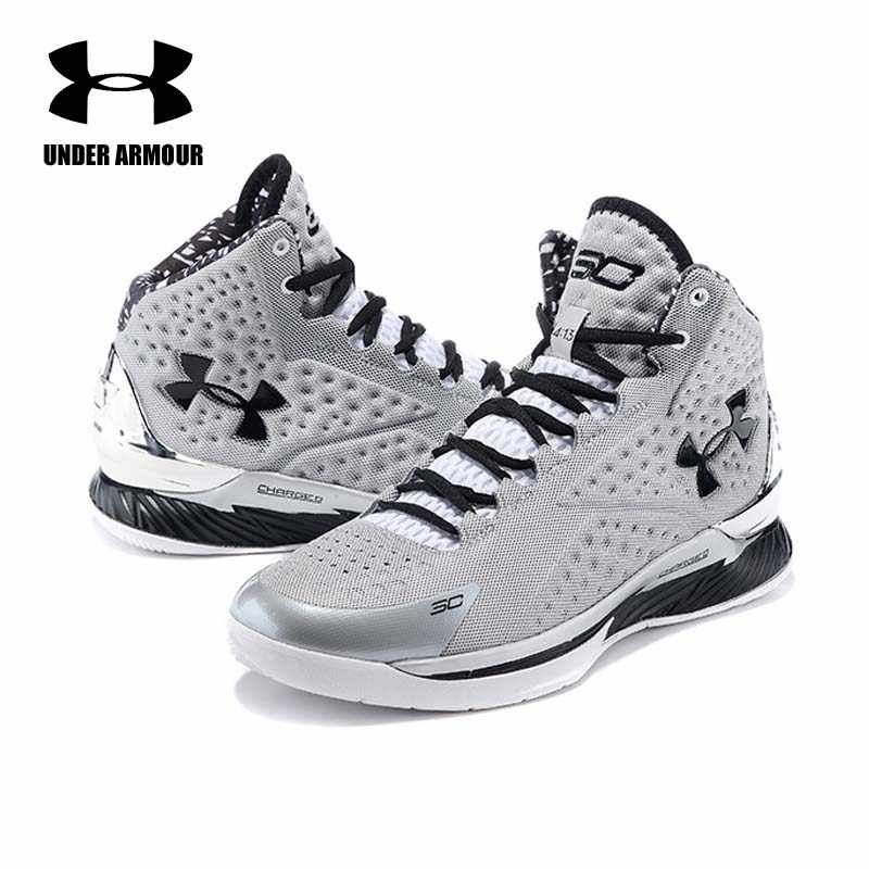 47d21b63cd3 ... Under Armour Men Curry V1 Basketball shoes zapatillas hombre deportiva male  high-Top Cushioning Light ...
