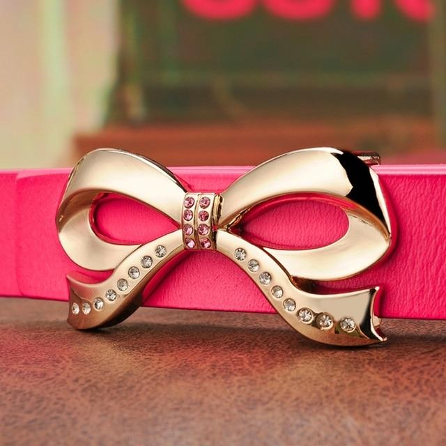 Cinturones de lujo para mujeres 2016 la moda de buena calidad de la correa de cuero hebilla de Metal femenino del diseñador del envío gratis 2.4 CM