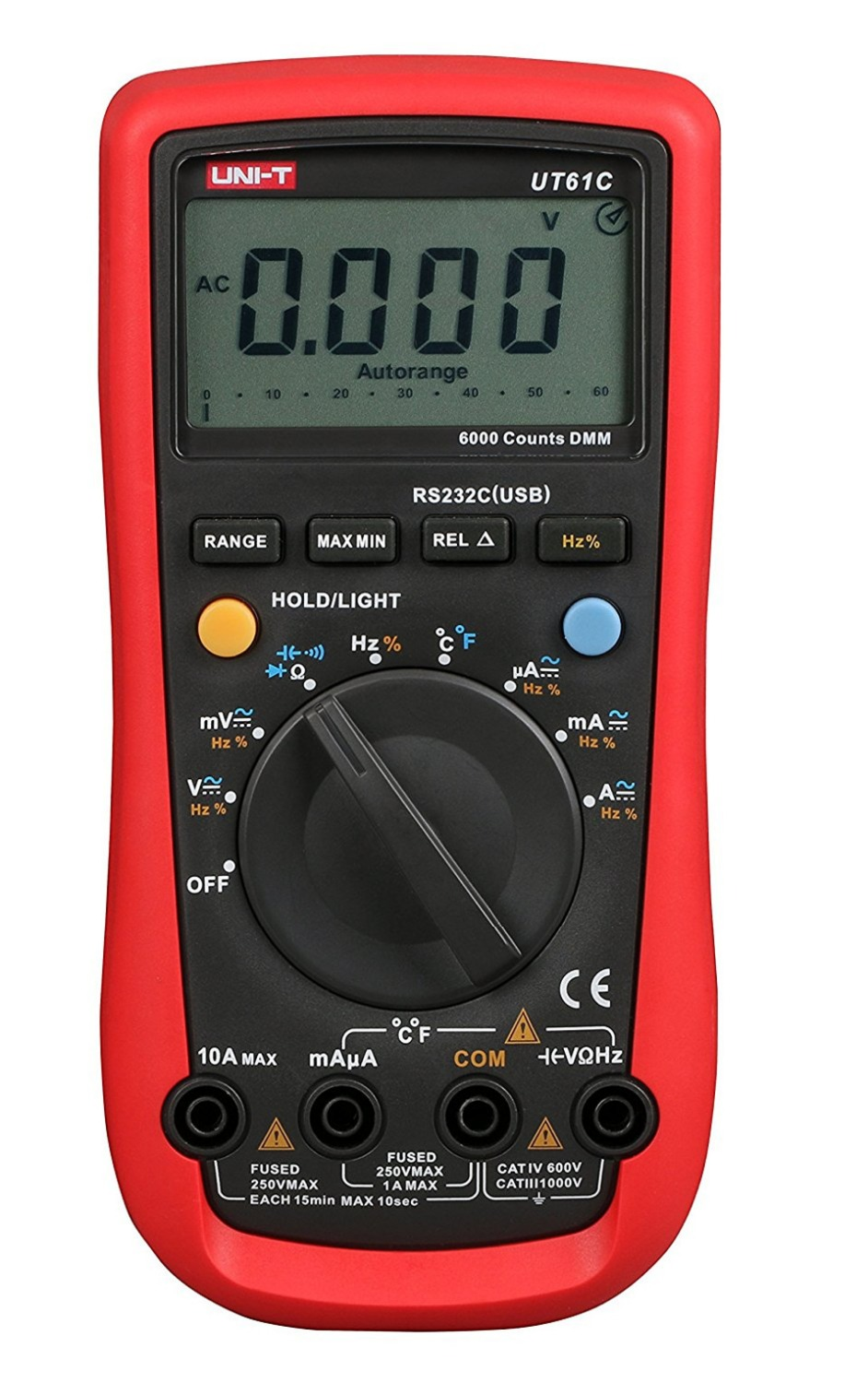 2017 Digital Multimeter UNI-T UT61C High Reliability Modern Digital Multimeters AC DC Meter CD Backlight & Data Hold Multitester [randomtext category=