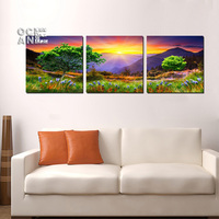 Pastoral Scenery Mosaic Painting Diy Diamond Painting Cross Stitch Triptych Full Square Drill Diamond Embroidery Landscape