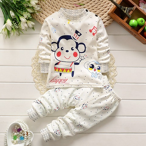 Baby Boy Girl Clothes Kids Clothes Sets T-shirt+pants Suit Clothing Set Animal Printed Clothes Newborn Sport Suits baby boy clothes 2016 summer kids clothes sets t shirt pants suit clothing set glasses printed clothes newborn