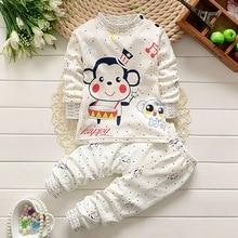 Baby Boy Girl Clothes Kids Clothes Sets T-shirt+pants Suit Clothing Set Animal Printed Clothes Newborn Sport Suits