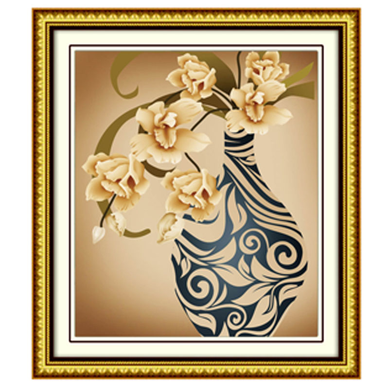 New Graceful Swing Flower Diy 5d Diamond Embroidery Painting Kits Round Square Drill Canvas Cross Stitch Living Room Decoration