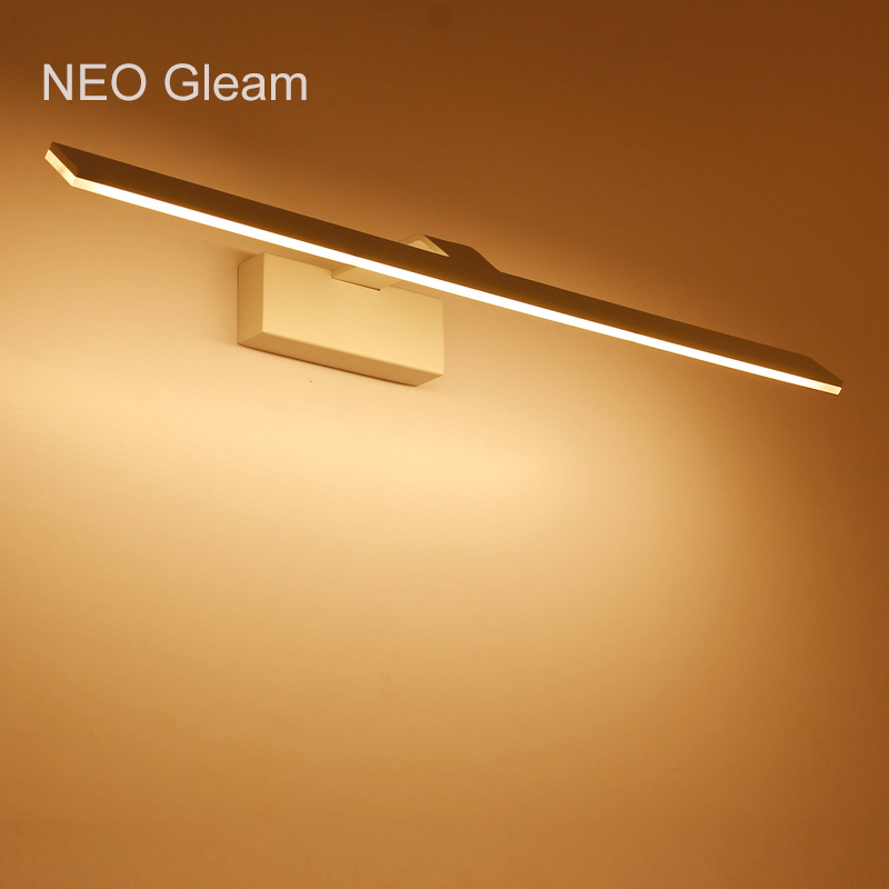 NEO Gleam Modern led wall lights dressing table Mirror wall Sconce Bathroom White AC85-265V mirror wall lamp luminaire Fixtures optional shipping costs fog proof led mirror lights dressing table toilet bathroom mirror front lamp ac85 265 12w 60cm