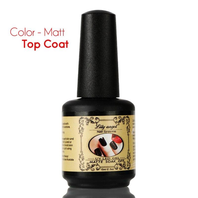 Nuevo 15 ml Duradero Mate Top Coat Primer Nail Gel Polish Mate Top - Arte de uñas