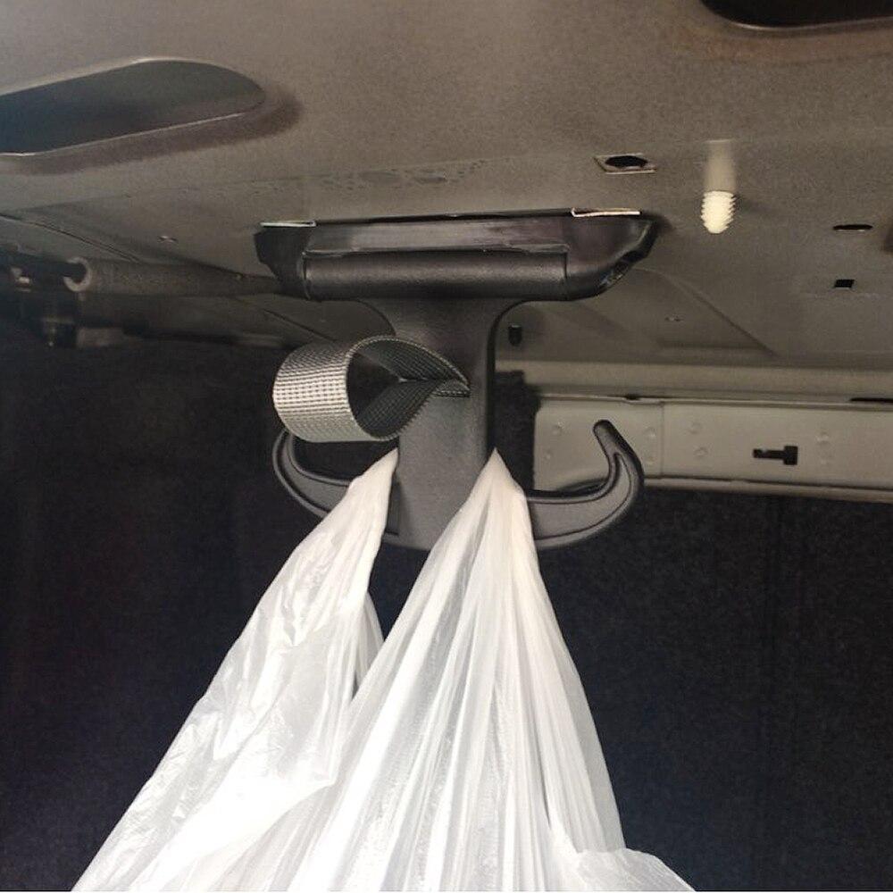Prizemall Durable Car Trunk Bag Holder Sundries Hook Ox Horn Shape Hanger for Audi A4 Volkswagen VW Passat Jetta Tide Black