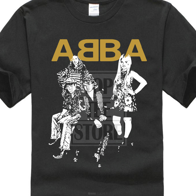 bb244632b Brand new summer style Cotton men Clothing Male Slim Fit t shirt ABBA Pop  Group 100% Pure Cotton Tees O neck