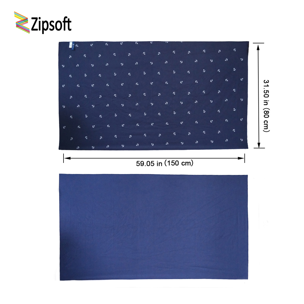 Zipsoft Brand Beach <font><b>towel</b></font> 2017 Large Microfiber Anchor <font><b>Towel</b></font> for Adults Swimming Pool Gym Travel Hiking Camping Bath Quick Dry