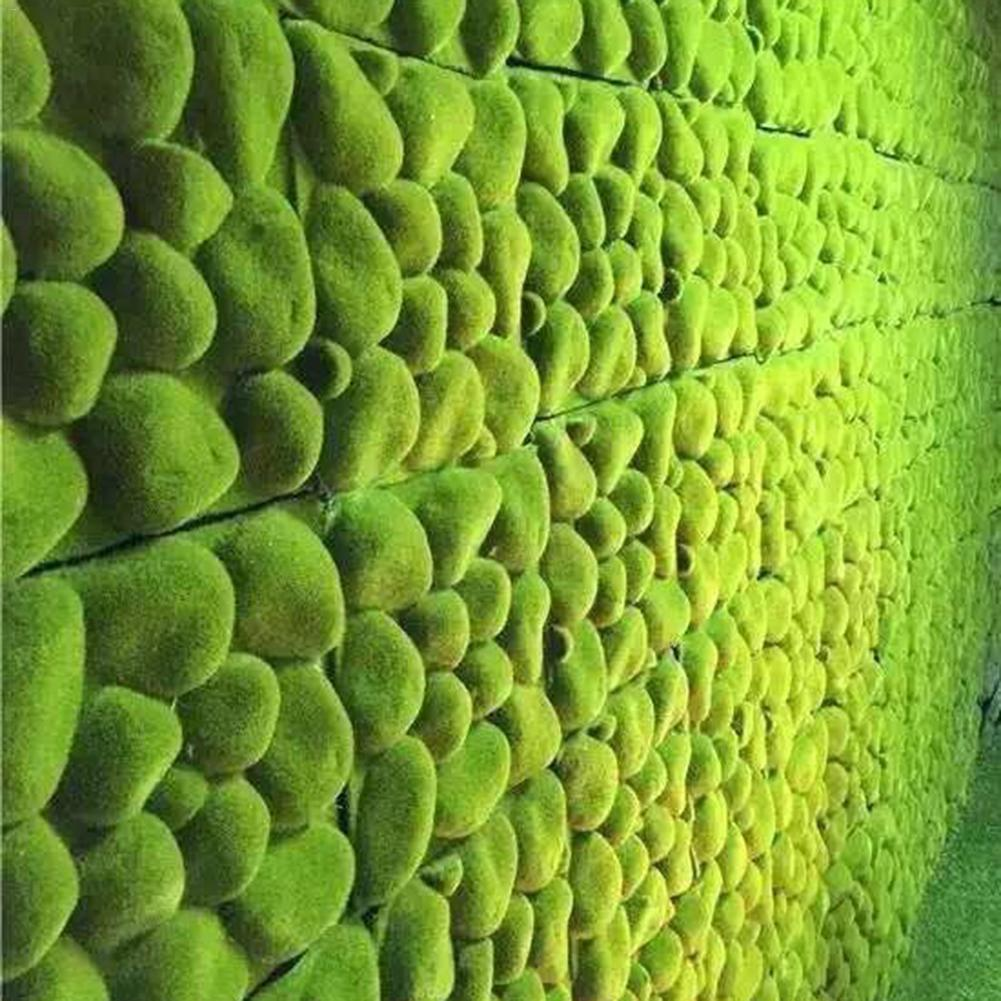 Stone Shape Moss Grass Mat Indoor Green Artificial Lawn Turf Carpets Fake Sod Moss For Home Hotel Wall Balcony Decoration Lawns
