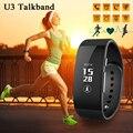 Bluetooth inteligente de pulsera banda u3 pulsera podómetro fitness pulsómetros sueño ip54 impermeable pk xiaomi mi banda