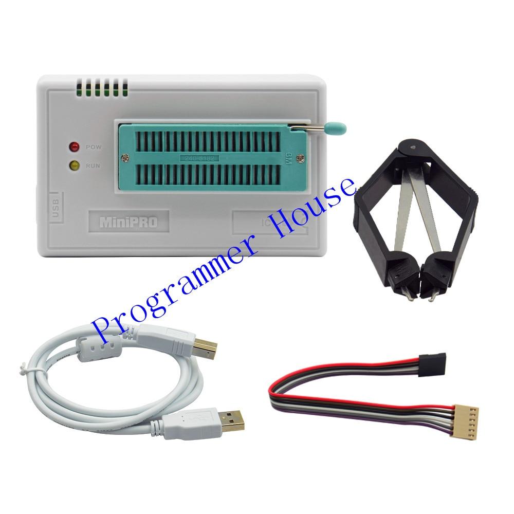 러시아어 파일 V8.30 TL866II Plus BIOS USB 범용 프로그래머 ICSP Nand FLASH EEPROM 1.8V 24 93 25 TL866A보다 우수한 TL866CS