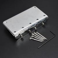 12pcs Silver Chrome 4 String Electric Bass Guitar Bridge 5 Screws Wrenche