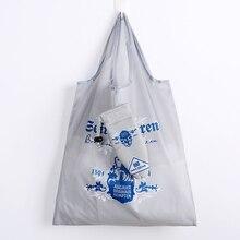 2019 Umbrella style Waterproof Nylon Reusable Shopping Bags Women Foldable Tote Bag Portable Cloth Eco Grocery Folding