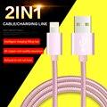 2IN1 Micro USB/Молнии 1 M Алюминия Мобильного Телефона кабели для Передачи Данных Зарядка для iPhone 5 6 Samsung Galaxy XiaoMi зарядное устройство