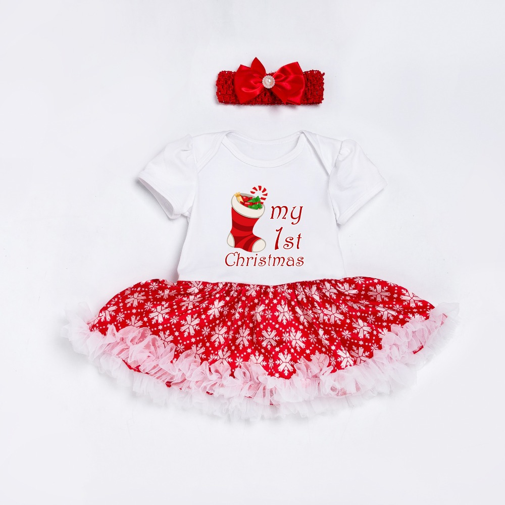 2017 New infant snowflake bodysuits fashion baby girls lace cotton clothes kids jumpers princess skirts style clothi 17S907