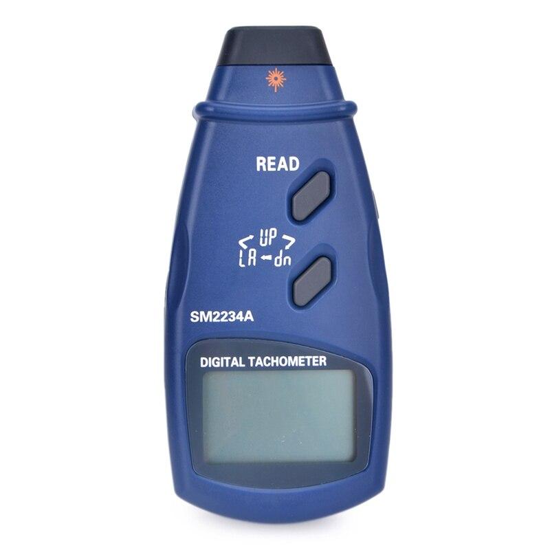 LCD Digital Laser Tachometer Accuracy 0.1RPM Electronic Photo Tachometer 2.5~99999 RPM Max Min Last Data Memory Speedometer|laser tachometer|digital laser tachometerphoto tachometer - title=