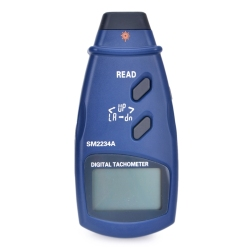 LCD Digital Laser Tachometer Accuracy 0.1RPM Electronic Photo Tachometer 2.5~99999 RPM Max Min Last Data Memory Speedometer