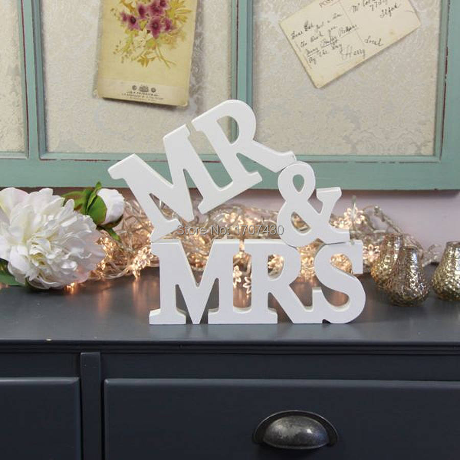 Painted In Black Mrs Mr Pvc Letters For Sweetheart Table Wedding Signs Decoration Reception Decor 10cm Figurines Miniatures From
