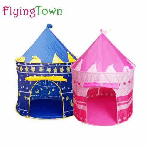 FlyingTown Ultralarge Children Beach Tent Baby Toy Play Game House Kids Princess Prince Castle Outdoor Toys Tents baby Gifts