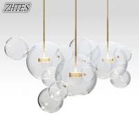Modern LED Bubble Glass ball Pendant Lighting Minimalist parlor Bedroom Dining Room hung lamp