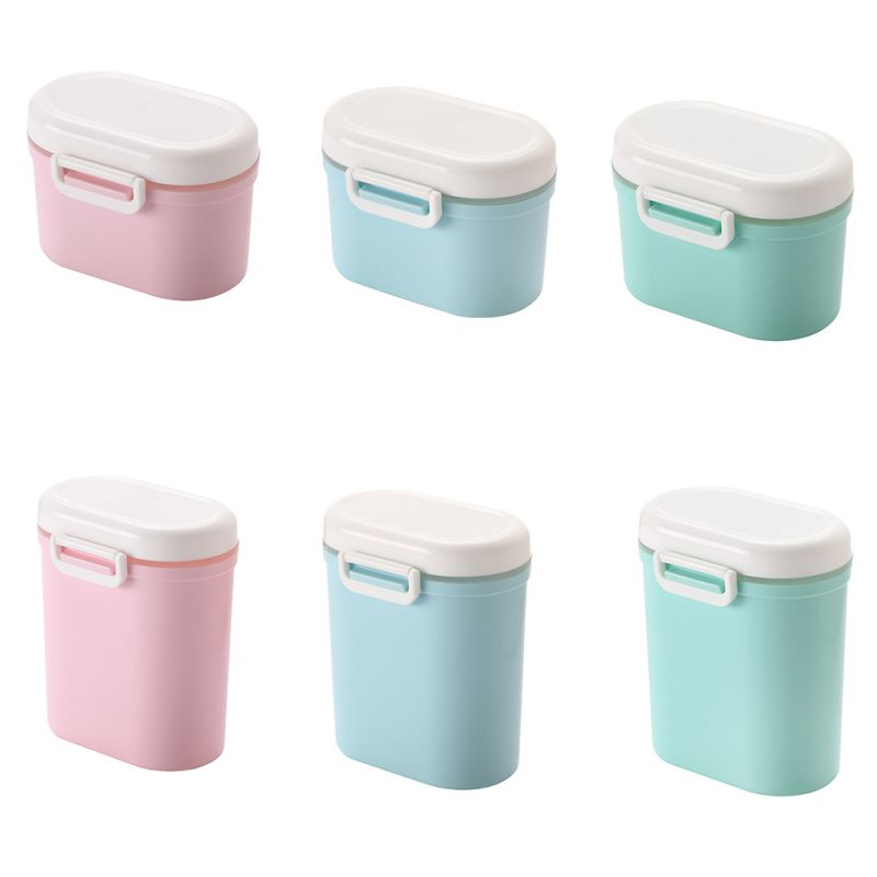 Caja de almacenamiento de alimentos para bebés, contenedor organizador de leche en polvo, dispensador externo