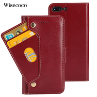Luxury Genuine Leather Phone Case For Iphone 8 7 plus Case Flip Wallet Cradit Card Holder 360 Cover For Iphone 8plus 7plus Coque