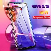 Protector de pantalla de vidrio templado para móvil, película de vidrio templado 9H 2.5D, antiblu-ray, para Huawei Nova 3 3i, 2 uds.