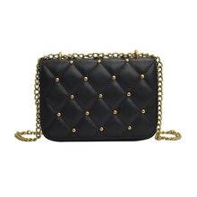 Fashion Small Cute Women Handbag Messenger Bag Plaid Bolsas Feminias Rivet Chain Shoulder Bag Trendy luxury handbags women bags цены