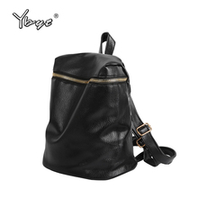 YBYT brand 2018 new fashion casual preppy style women rucksack PU leather package ladies shopping bags students school backpacks