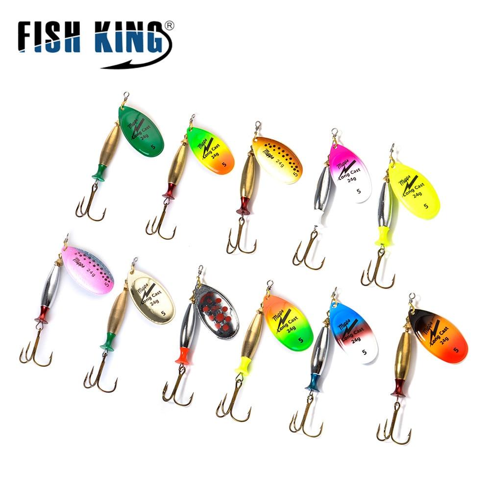 Spoon Fishing Lure Metal Fishing Spinner Bait Treble Hook Lures Fishing Bait