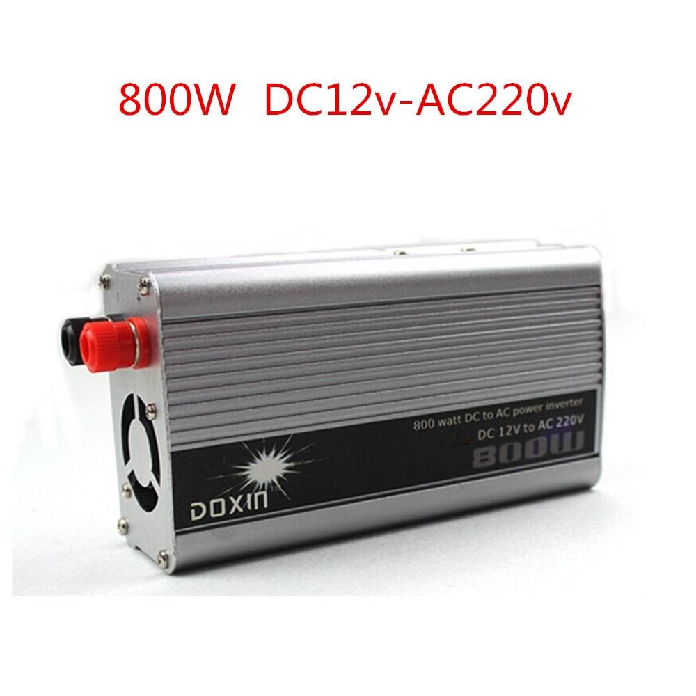 цена на 800W 800WATT DC 12V to AC 110V 220V Portable Car Power Inverter Adapater Charger Converter Transformer