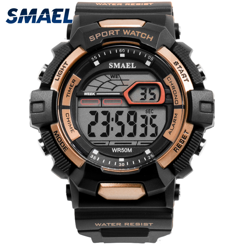 SMAEL Fashion Sports Watches Men Waterproof Countdown Digital Watches Outdoor Military Wristwatches Clock Men Relogio Masculino